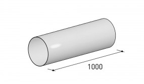Berbel Rundrohren-System 125, Rundrohr 1 m 6000298