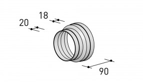 Berbel Rundrohren-System 150, Reduzierstutzen 150-125mm